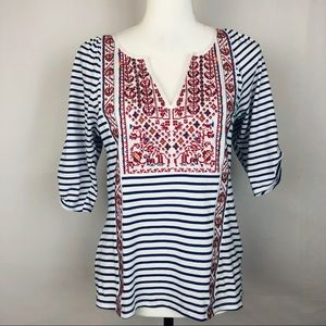 Anthro Tiny Tunic Top w/Embroidery Size Small